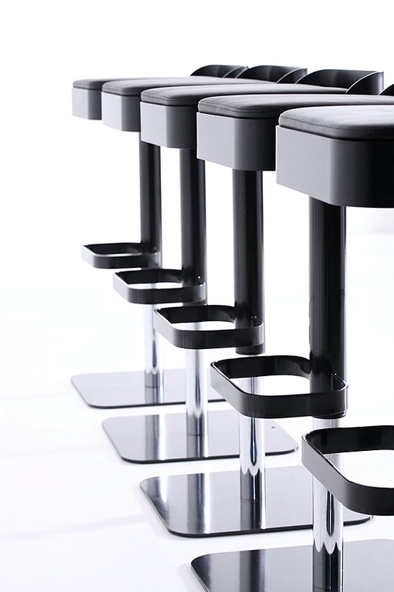 Area Declic Belt Bar Stool UKs Top Bar amp Restaurant  : AreaDeclicBeltbarstool1black 3 from www.stevewardstyling.com size 553 x 831 png 310kB