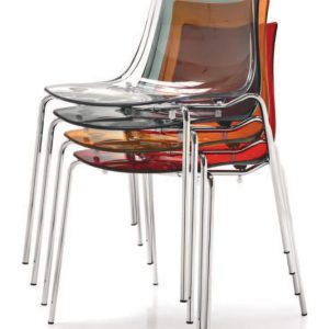 Polycarbonate dining chair pack of 2