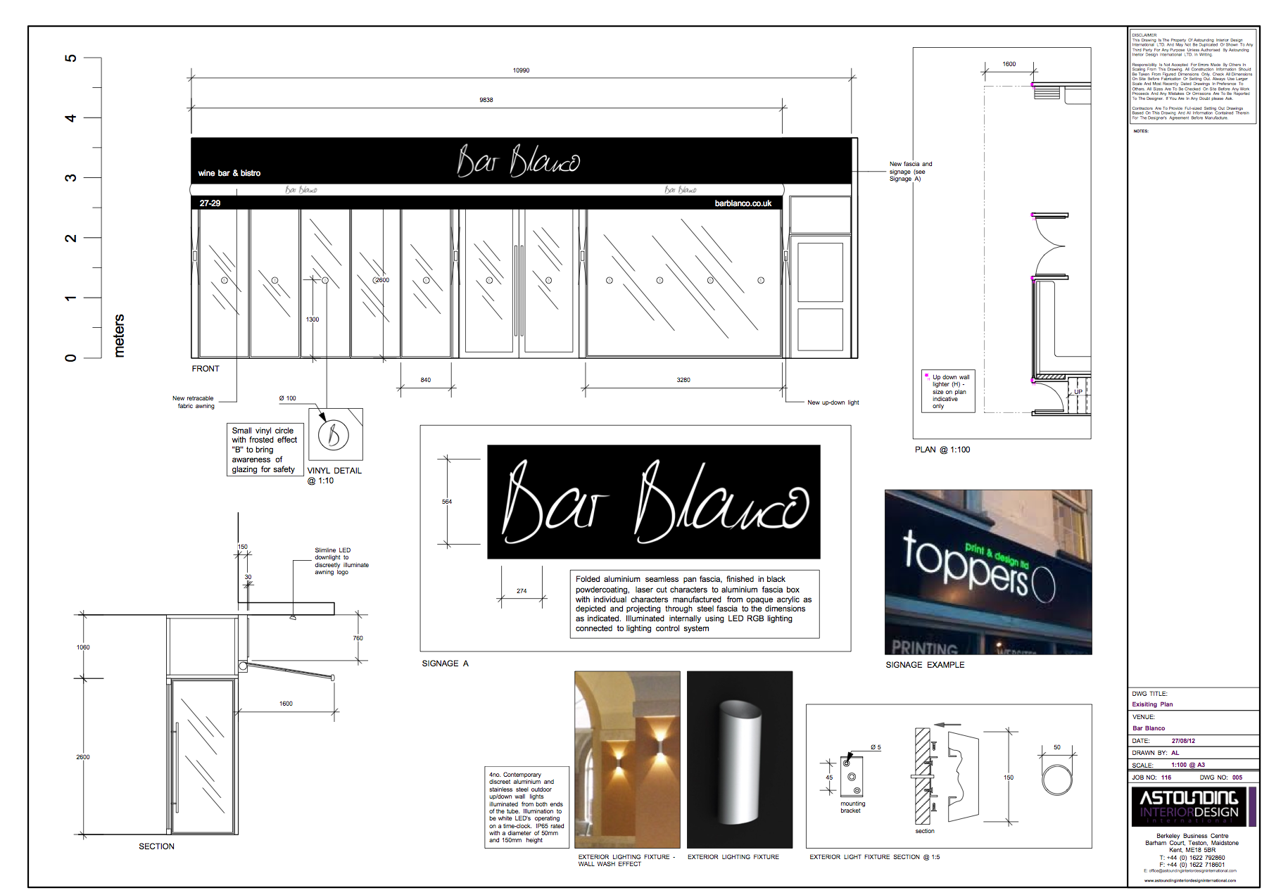 Survey of venue and space planning UKs Top Bar Restaurant