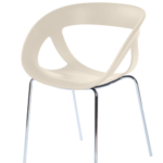 Gaber Moema 69 Dining Chair with Chromed Legs